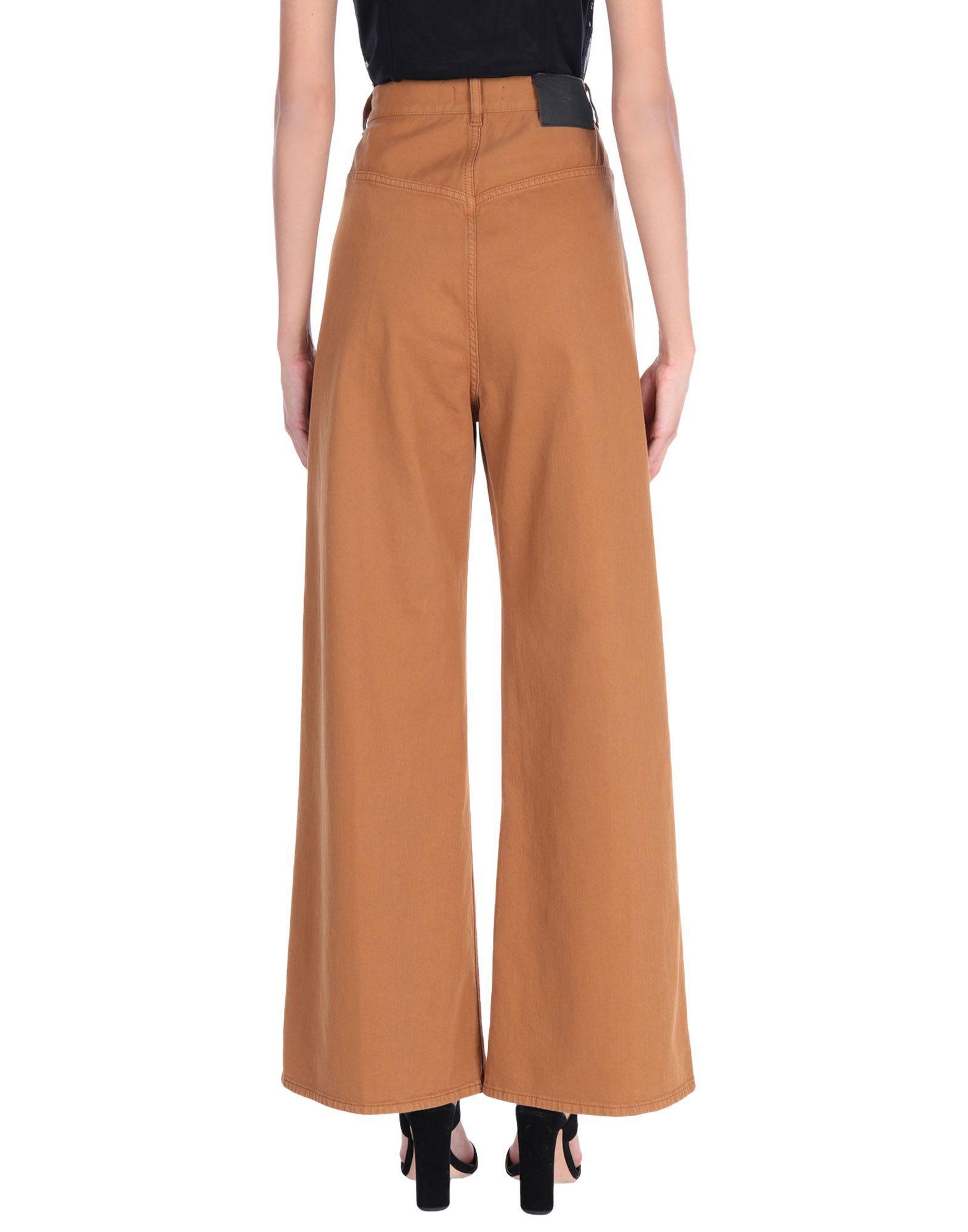 Mauro Grifoni Brown Cotton Wide Leg Jeans