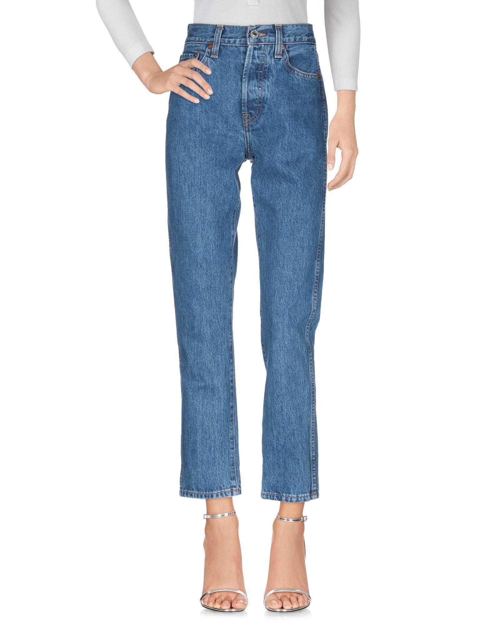 Re/Done Blue Cotton Jeans