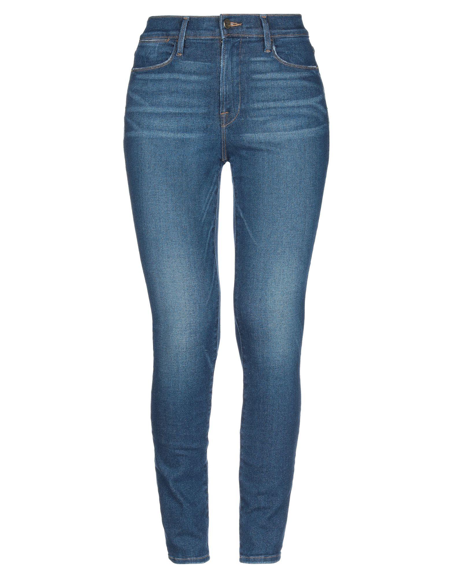 Frame Blue Cotton High Waisted Skinny Jeans