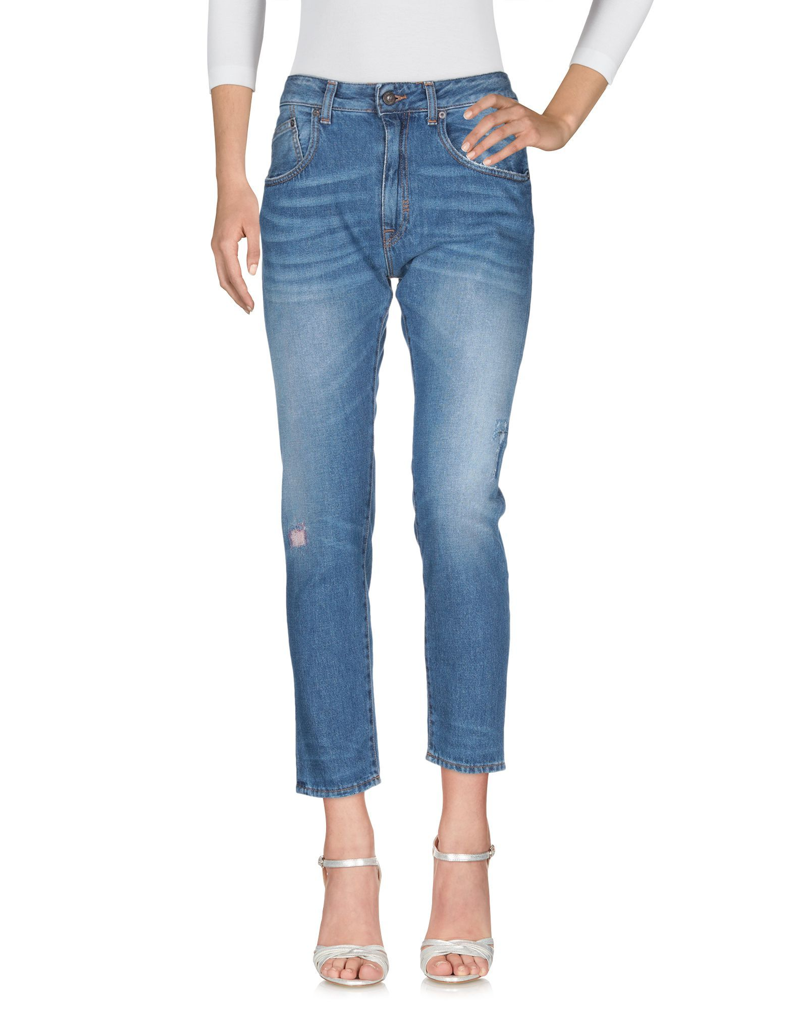 Meltin Pot Blue Cotton High Waisted Jeans