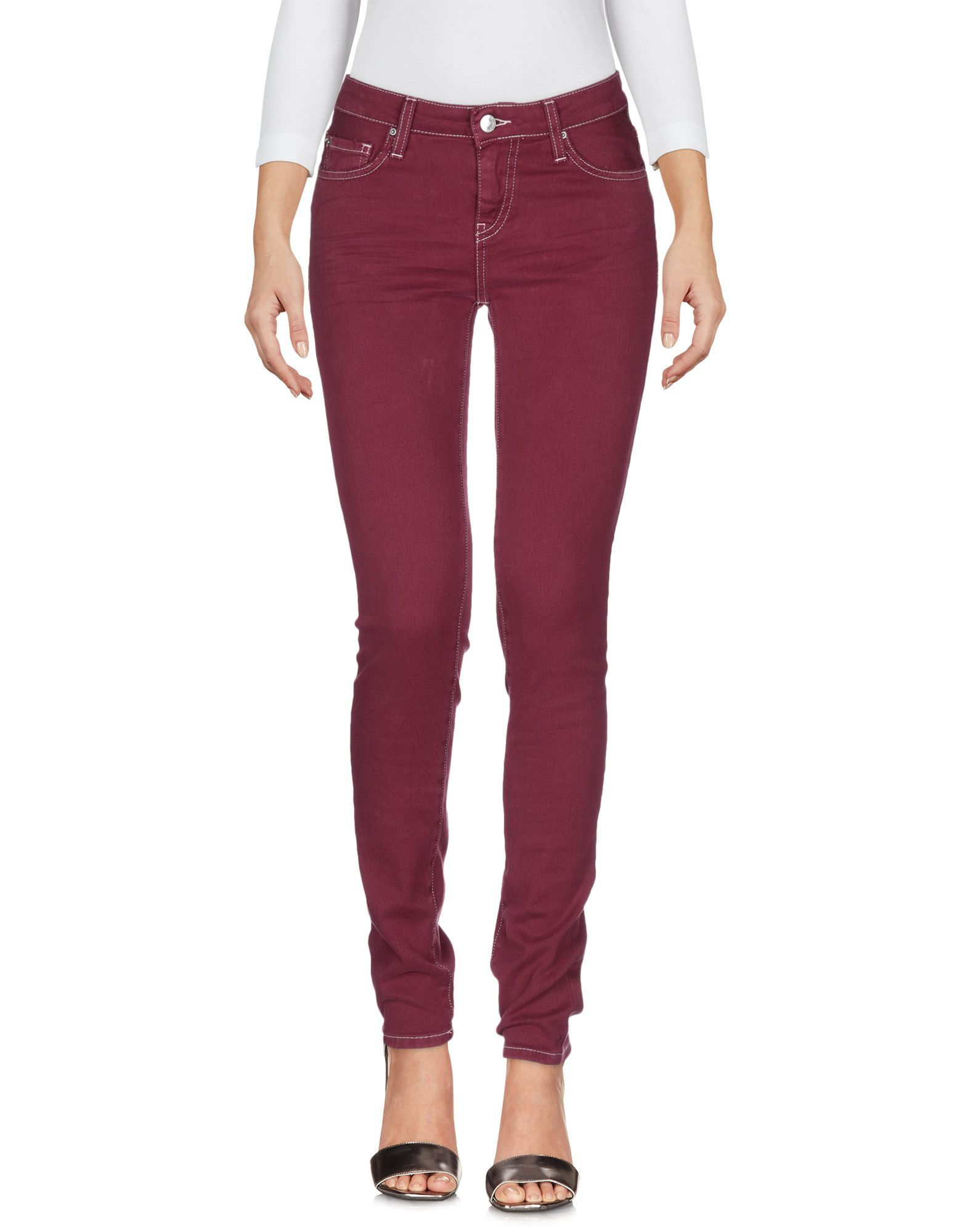 DENIM Woman Iro.Jeans Maroon Cotton