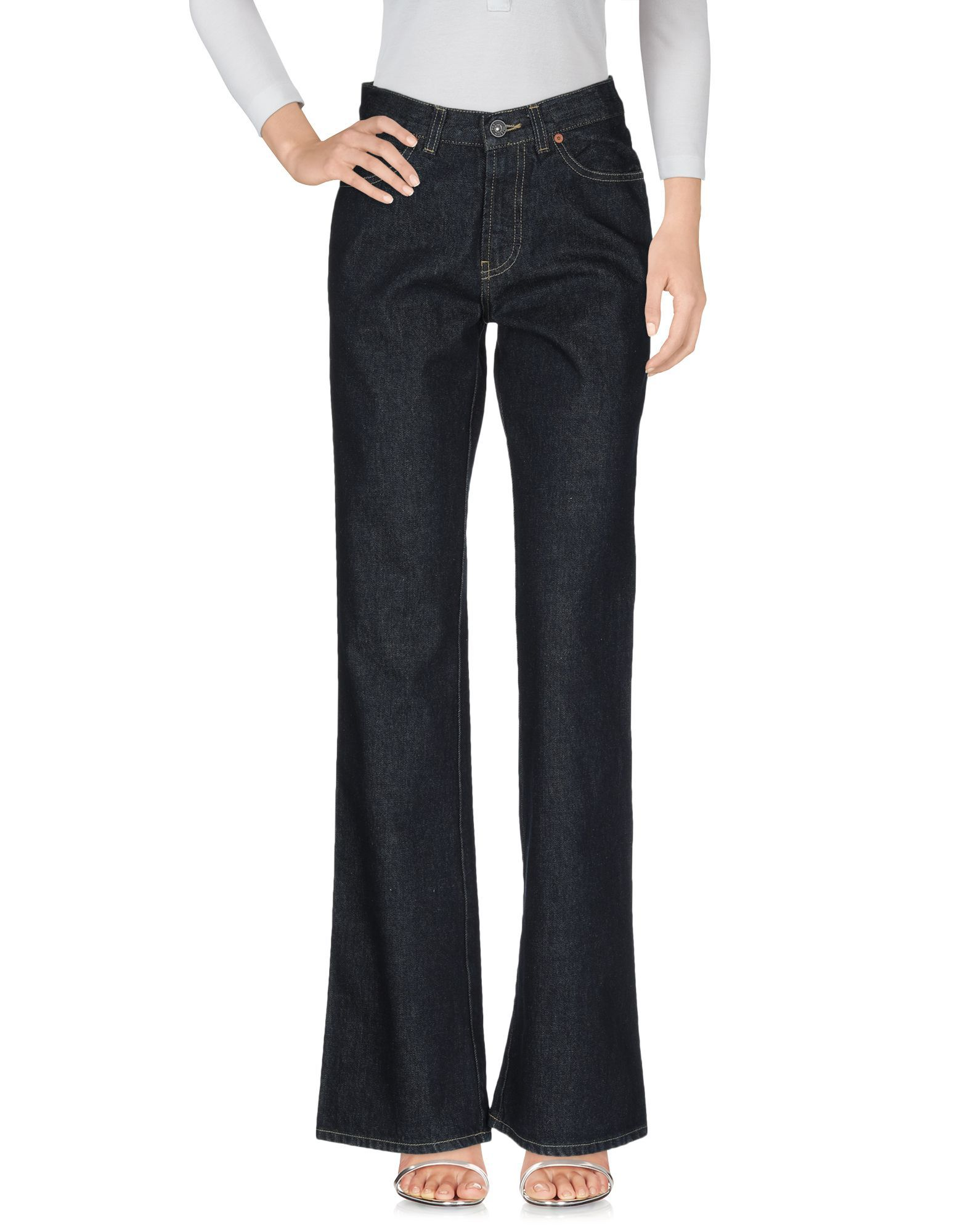 Meltin Pot Blue Cotton Flare Jeans