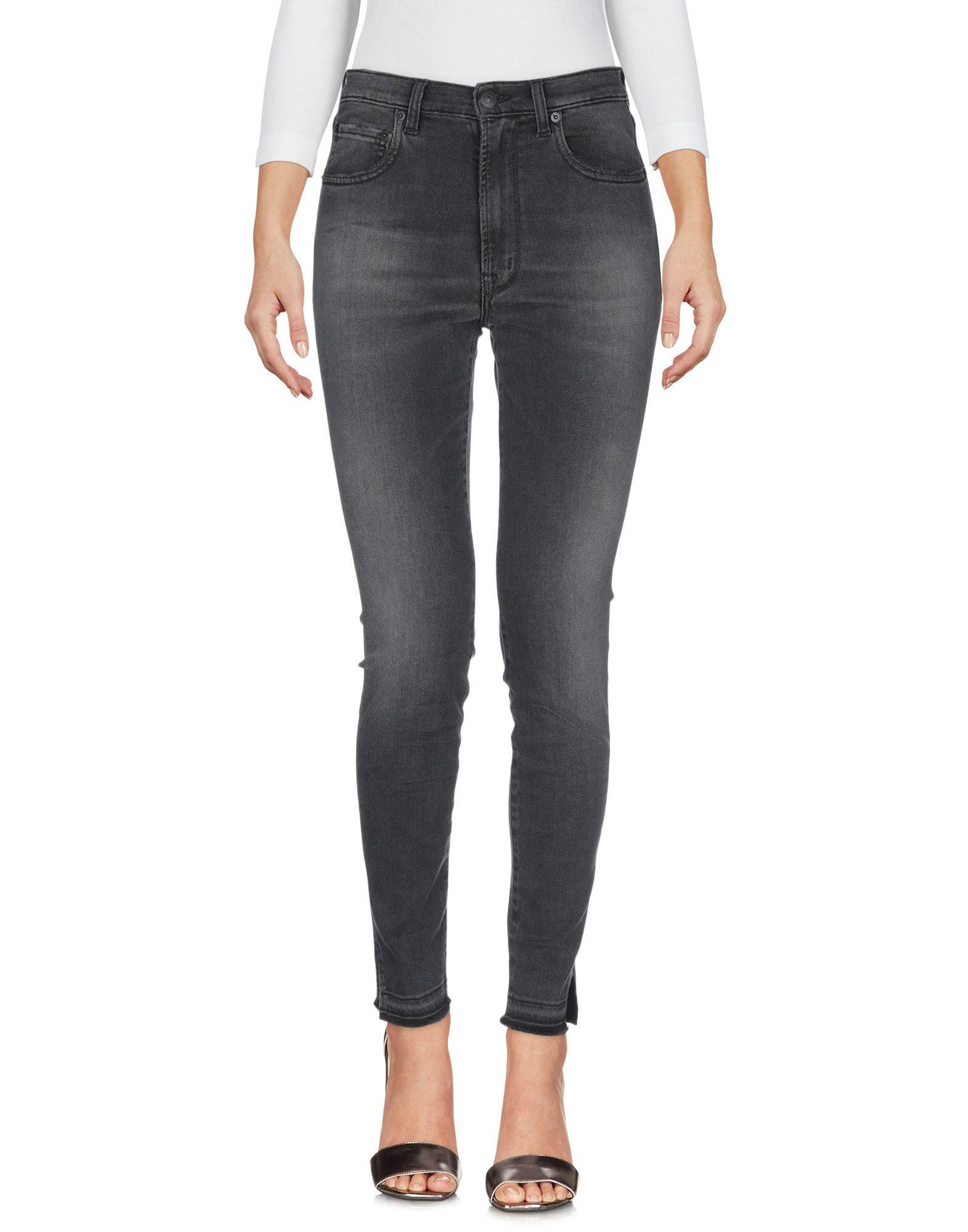 (+) People Steel Grey Cotton Slim Fit Jeans