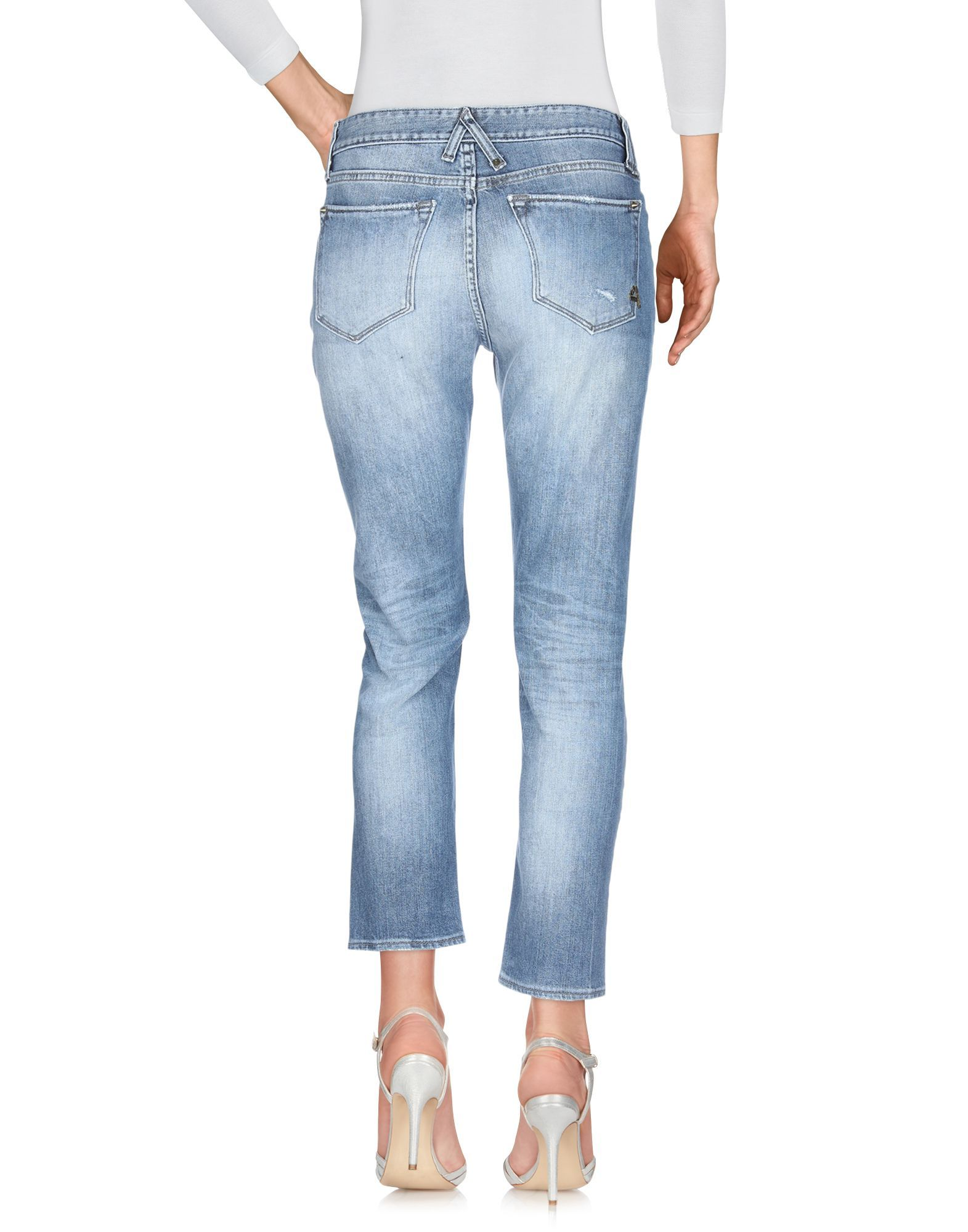 Cycle Blue Distressed Cotton Jeans