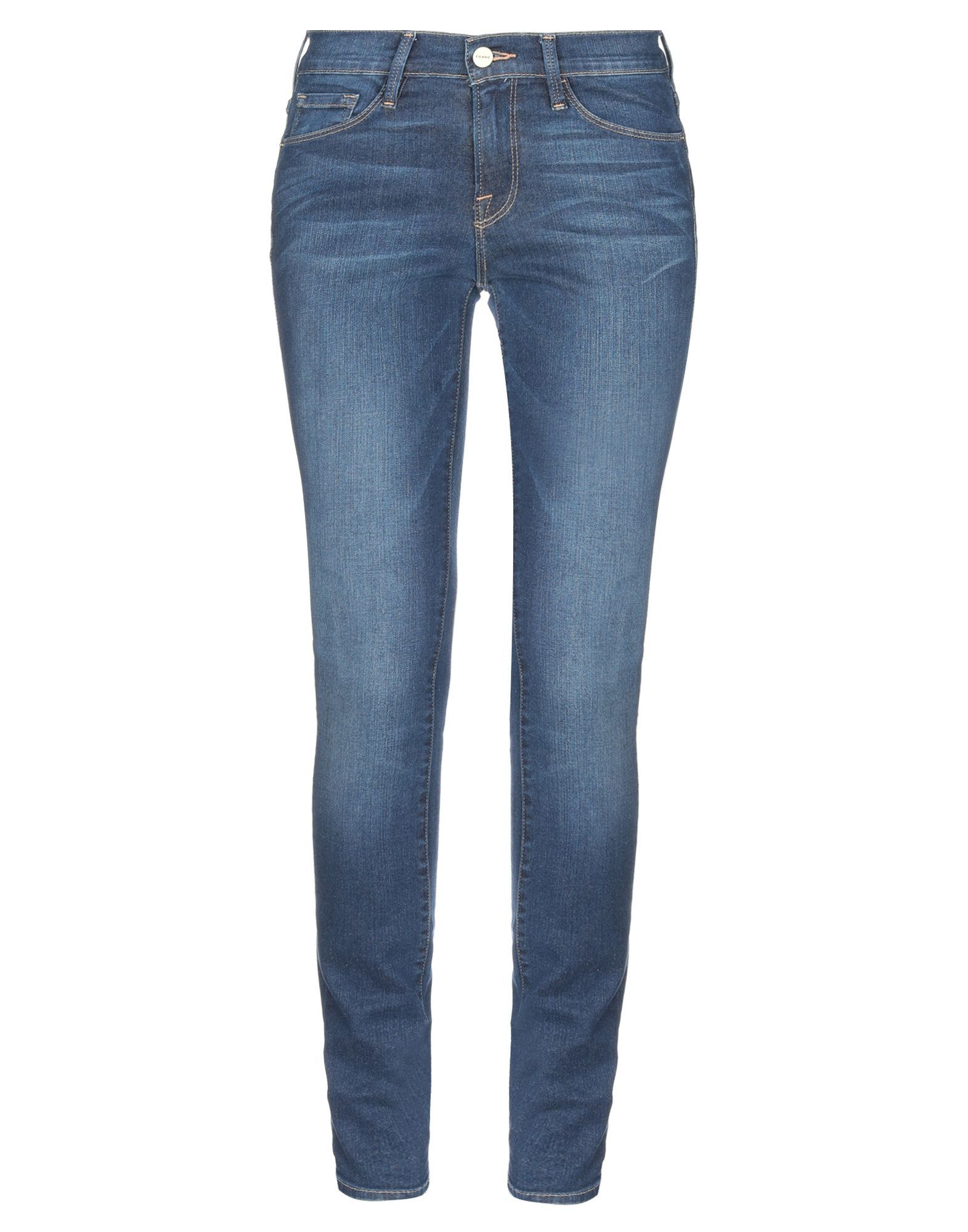 Frame Blue Cotton Skinny Jeans