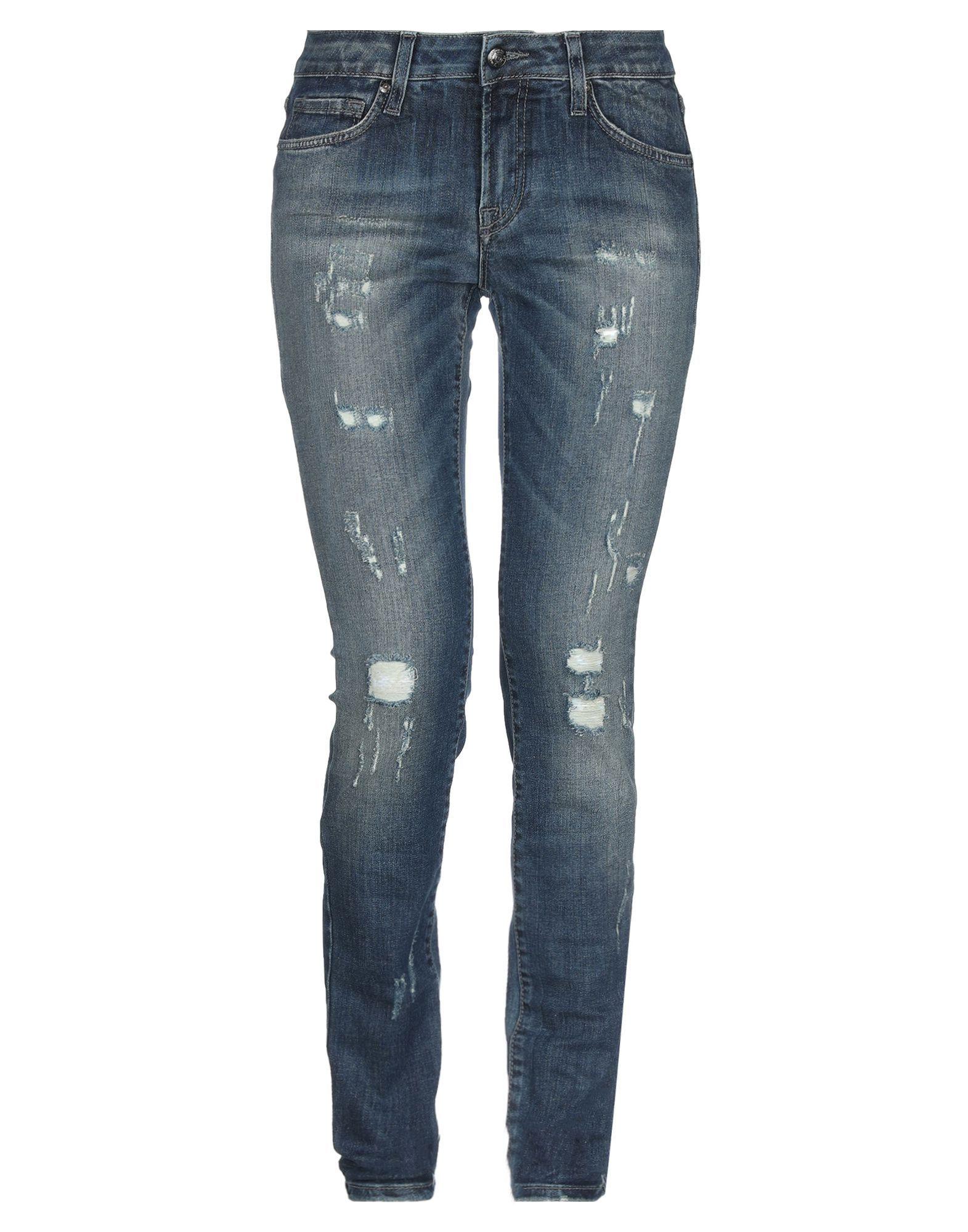 Roÿ Roger's Blue Cotton Slim Fit Jeans