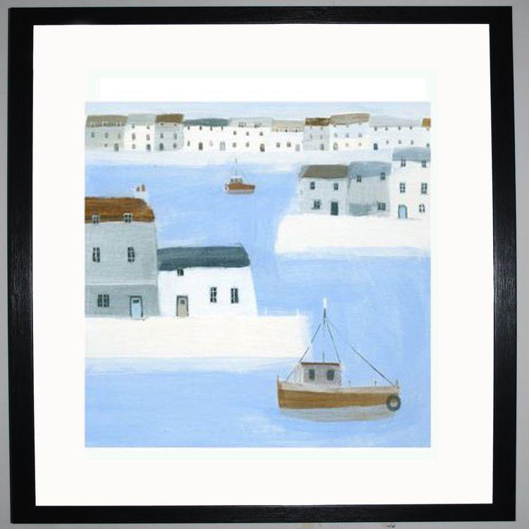 Harbour Walls Art Print by Hannah Cole