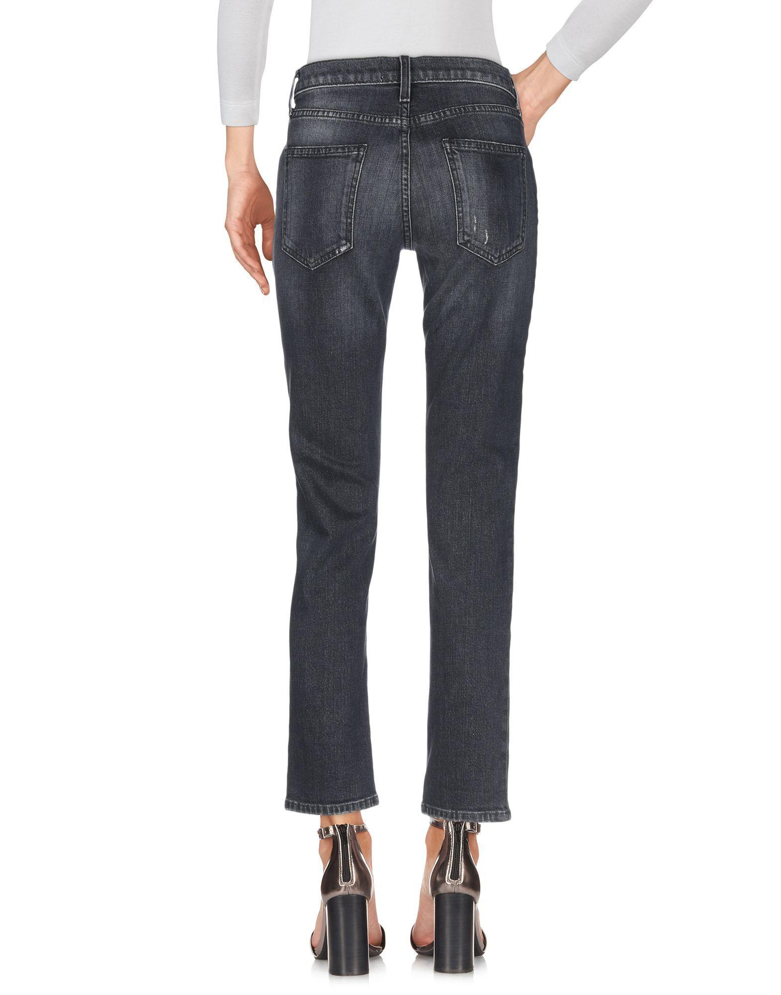 Current/Elliott Steel Grey Cotton Jeans