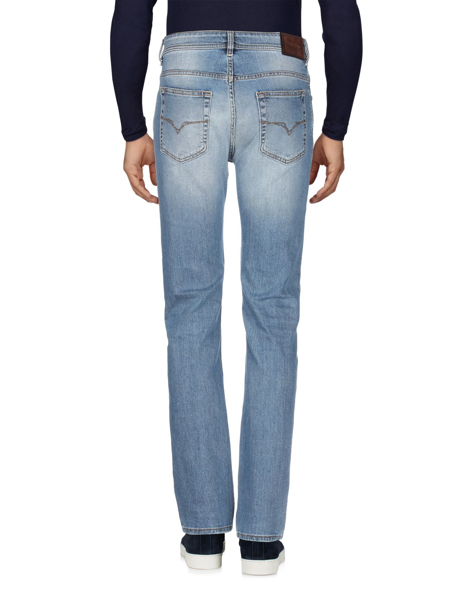Versace Jeans Blue Cotton High Waisted Jeans