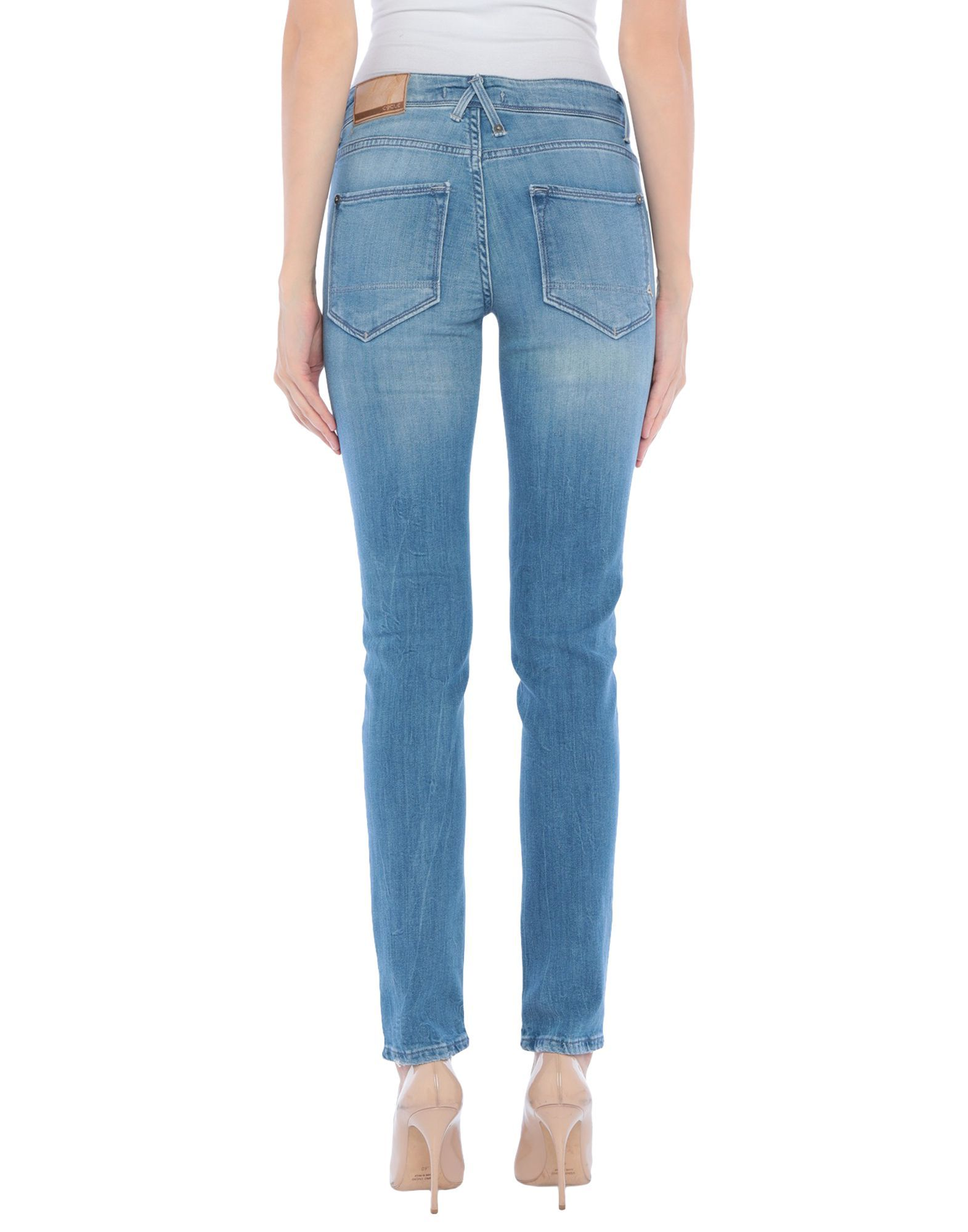 Cycle Woman Denim trousers Blue Cotton