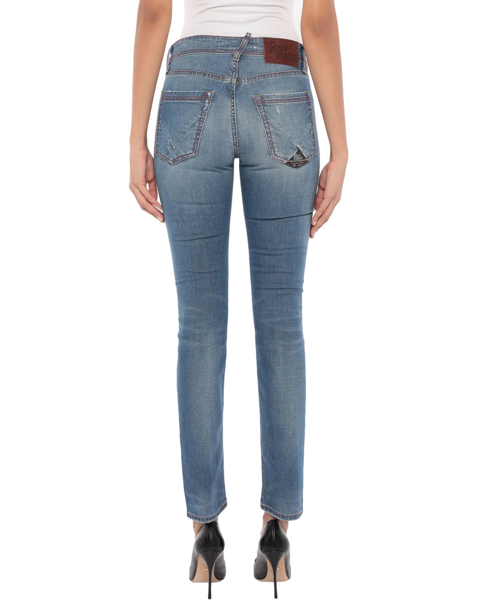 Roÿ Roger's Blue Cotton Mid Rise Jeans