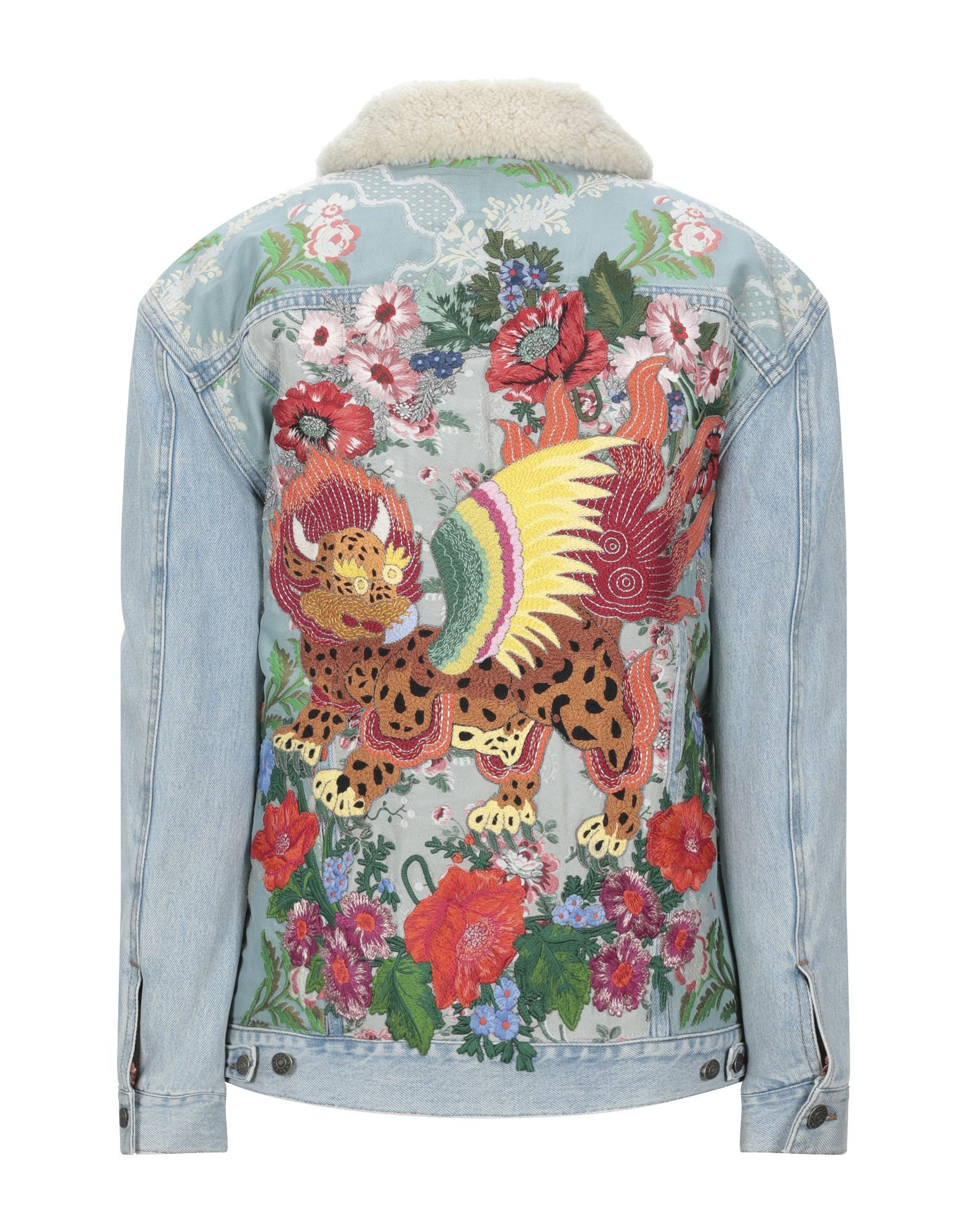 Gucci Modern Embroidered Denim Jacket
