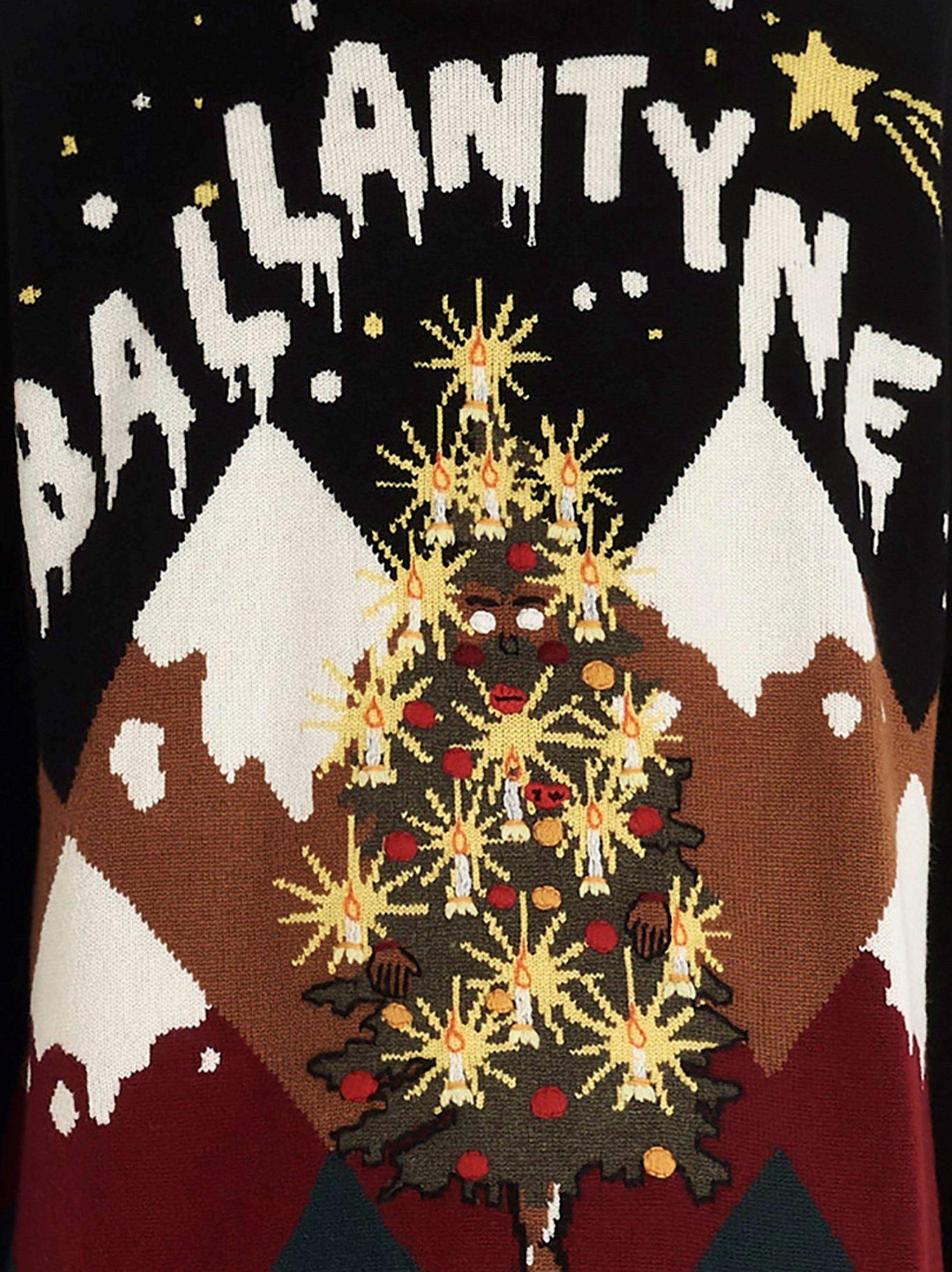 BALLANTYNE MEN'S ME0212DECEM00001 BLACK CASHMERE SWEATER