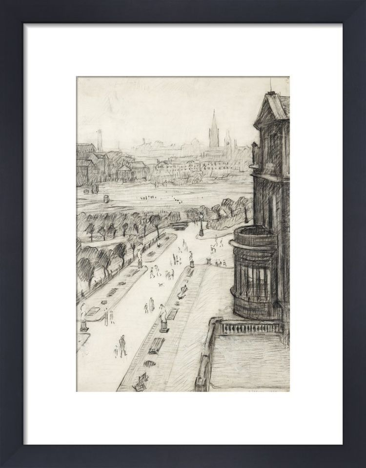 A View From The Window Of The Royal Technical College, Looking Towards Manchester, 1924 by L.S. Lowry