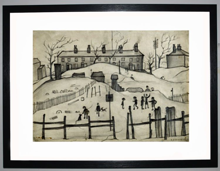 Houses In Broughton, 1937 by L.S. Lowry