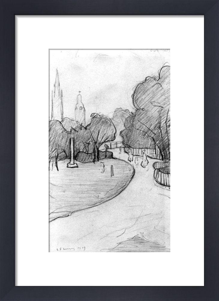 Peel Park Sketch, 1919 by L.S. Lowry