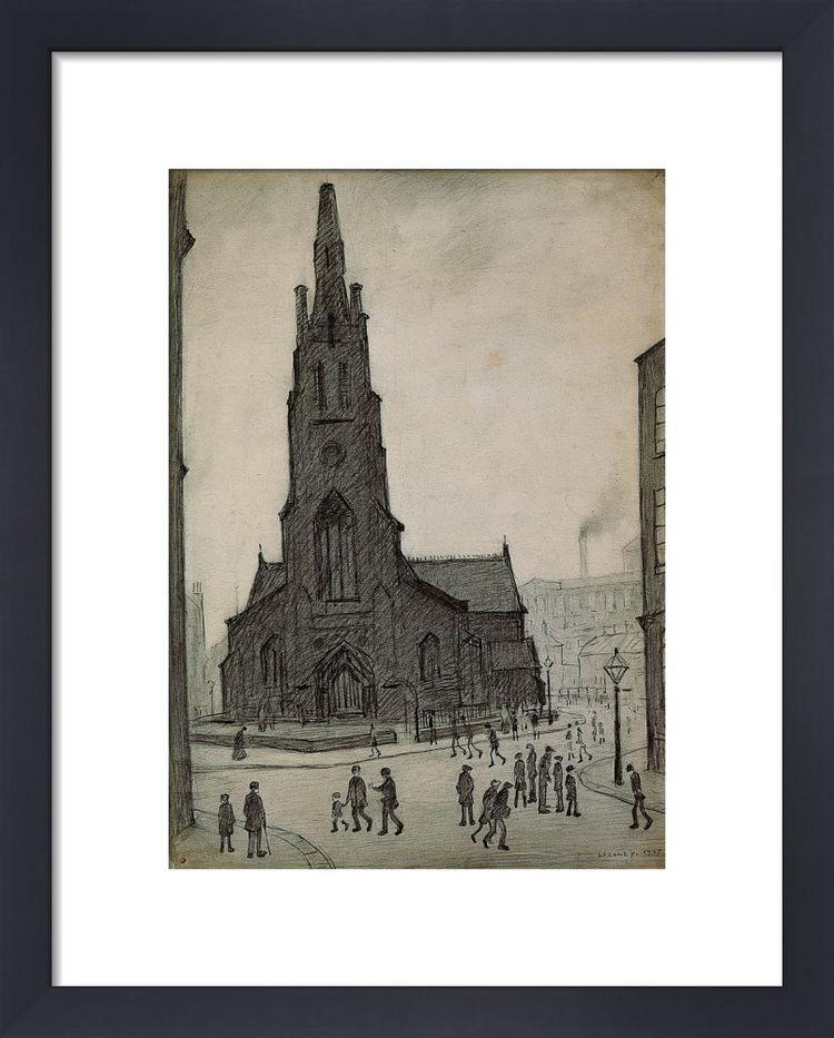 Street Scene St Simons Church 1927 By Ls Lowry