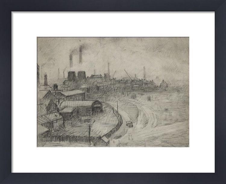 View From The Window Of The Royal Technical College, Looking Towards Broughton, 1925 by L.S. Lowry