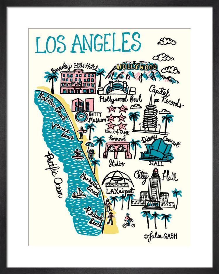 Los Angeles Cityscape by Julia Gash