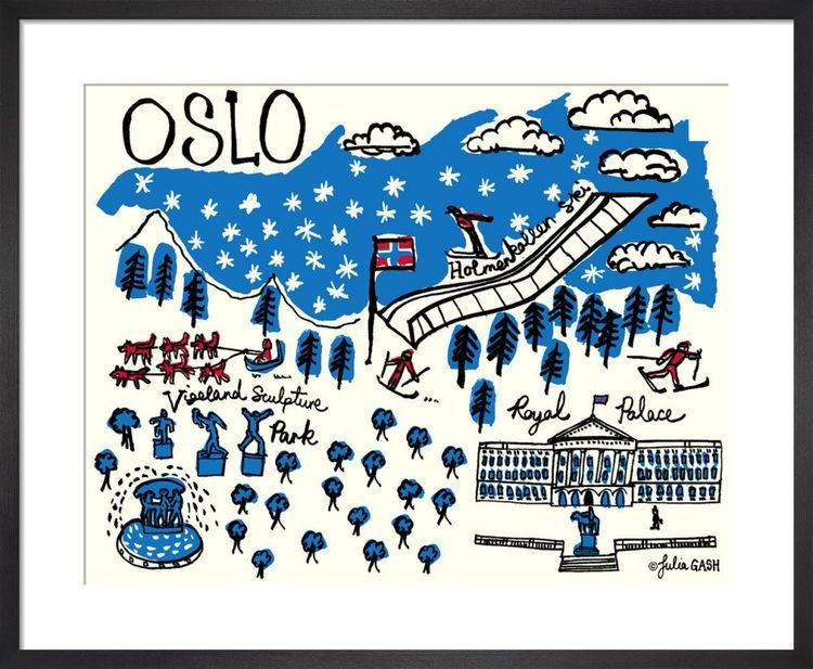 A Snapshot of Oslo Cityscape by Julia Gash