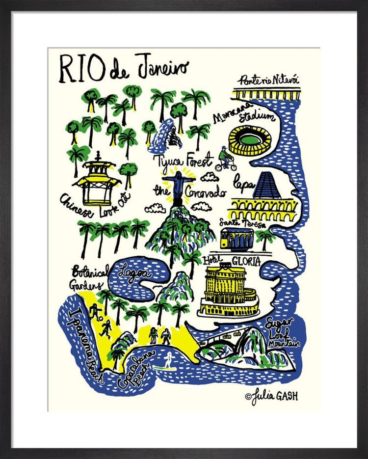 Rio De Janeiro Cityscape by Julia Gash