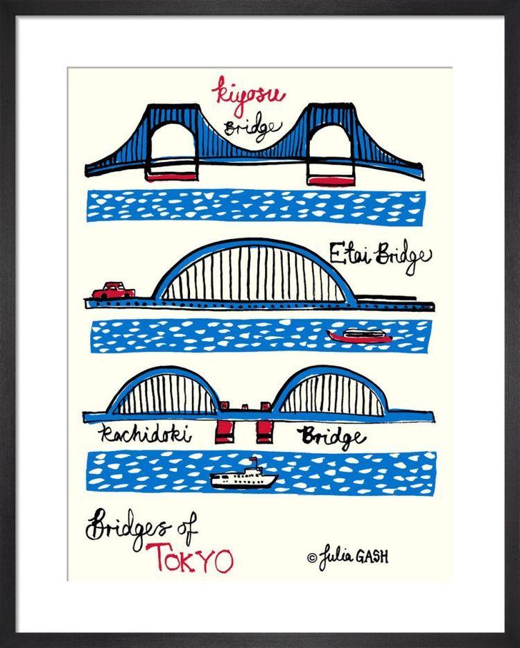 Bridges of Tokyo Cityscape by Julia Gash