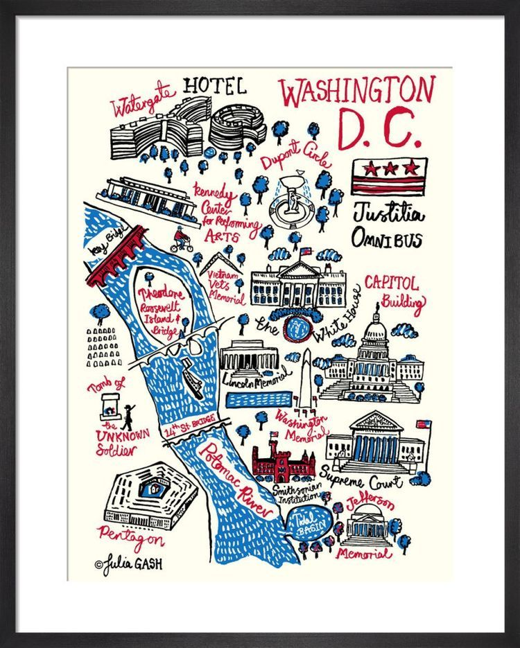 Washington DC Cityscape by Julia Gash