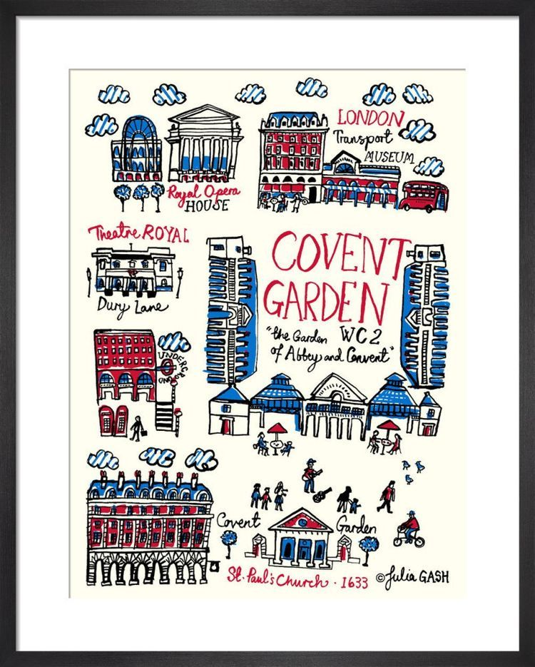 London – Covent Garden Cityscape by Julia Gash