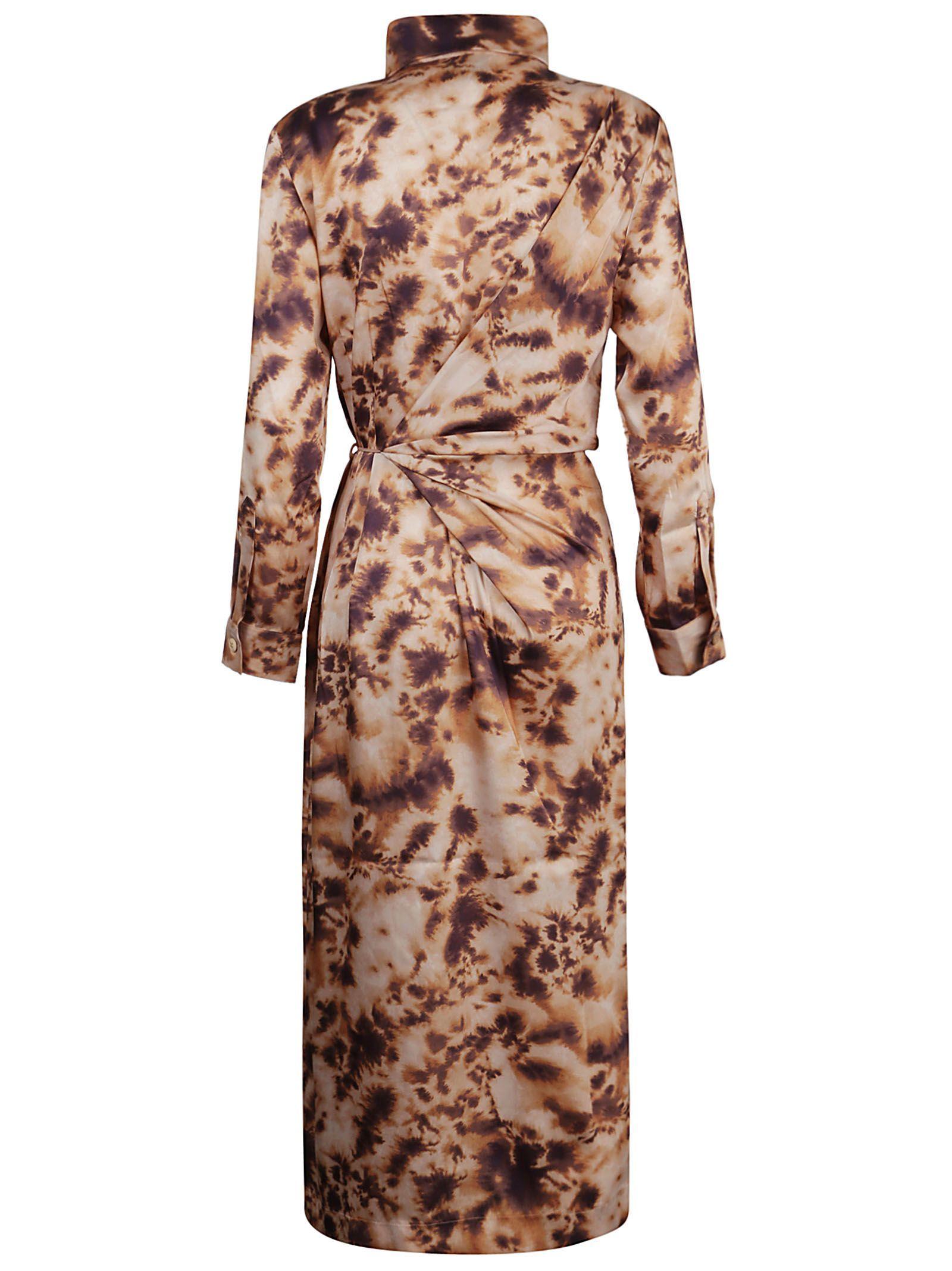 NANUSHKA WOMEN'S BISSOTIE BEIGE POLYESTER DRESS