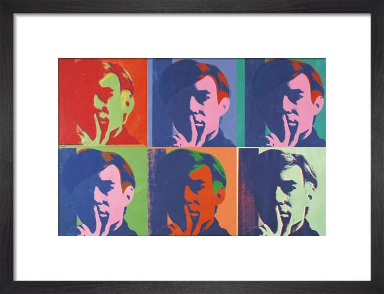 A Set of Six Self-Portraits, 1967 by Andy Warhol