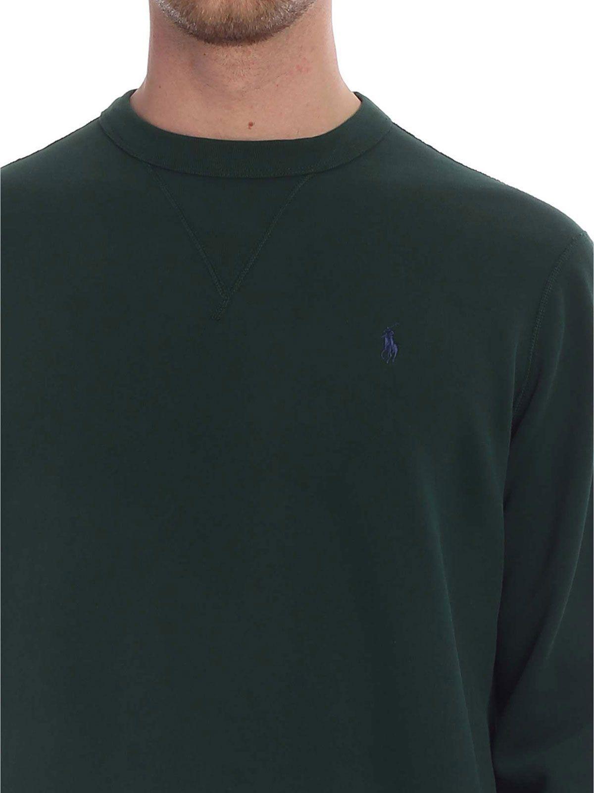 RALPH LAUREN MEN'S 710733123006 GREEN COTTON SWEATER