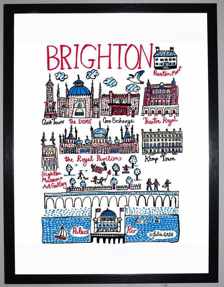 Brighton Cityscape by Julia Gash