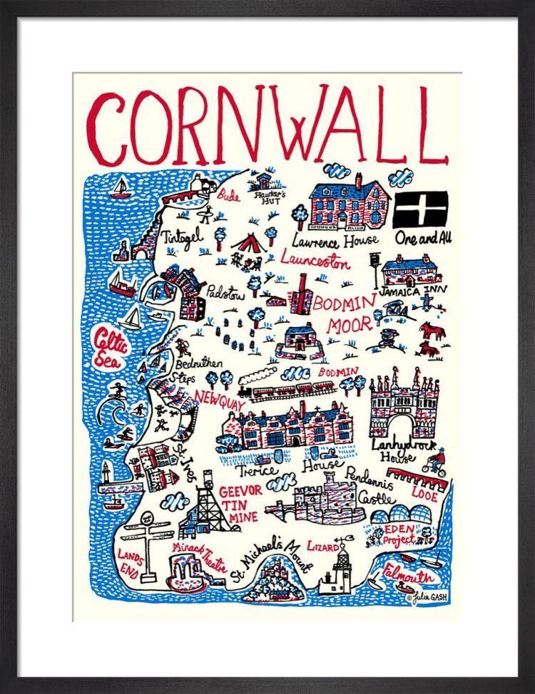 Cornwall Cityscape by Julia Gash
