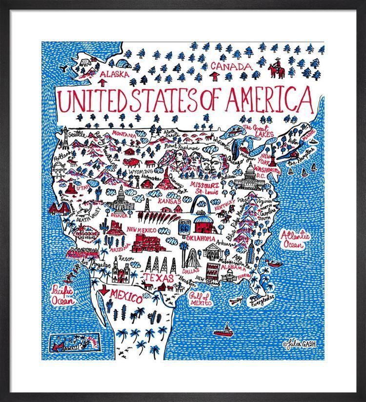 United States of America Cityscape by Julia Gash
