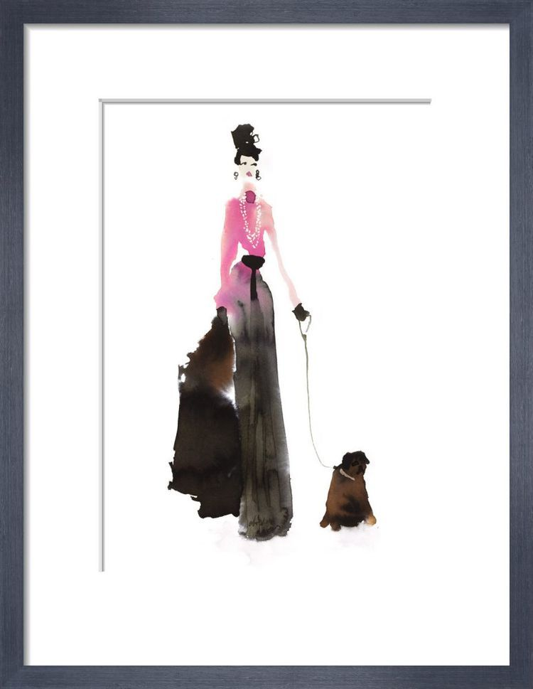 What to Wear When Walking the Dogs - Pink & Pearls by Bridget Davies
