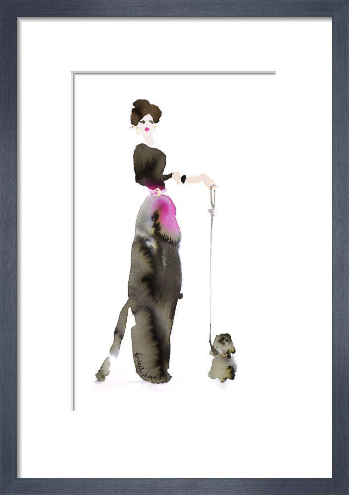 What to Wear When Walking the Dogs - Black & Pink by Bridget Davies