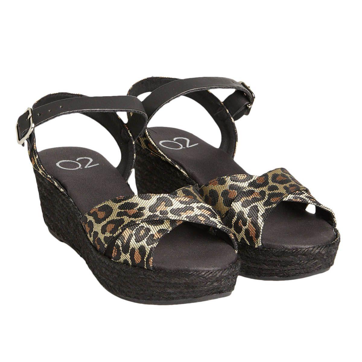 Leindia Sparto Wedge Sandal in Black