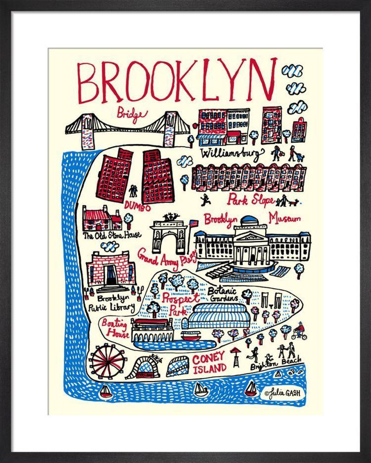 Brooklyn Cityscape by Julia Gash