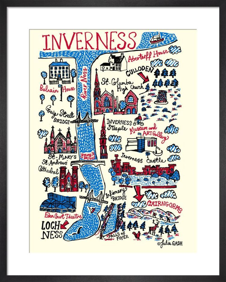Inverness Cityscape by Julia Gash