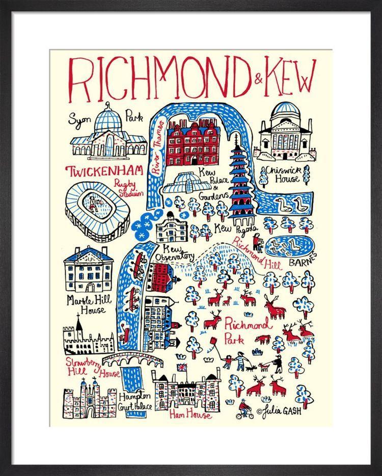 London – Richmond and Kew Cityscape by Julia Gash