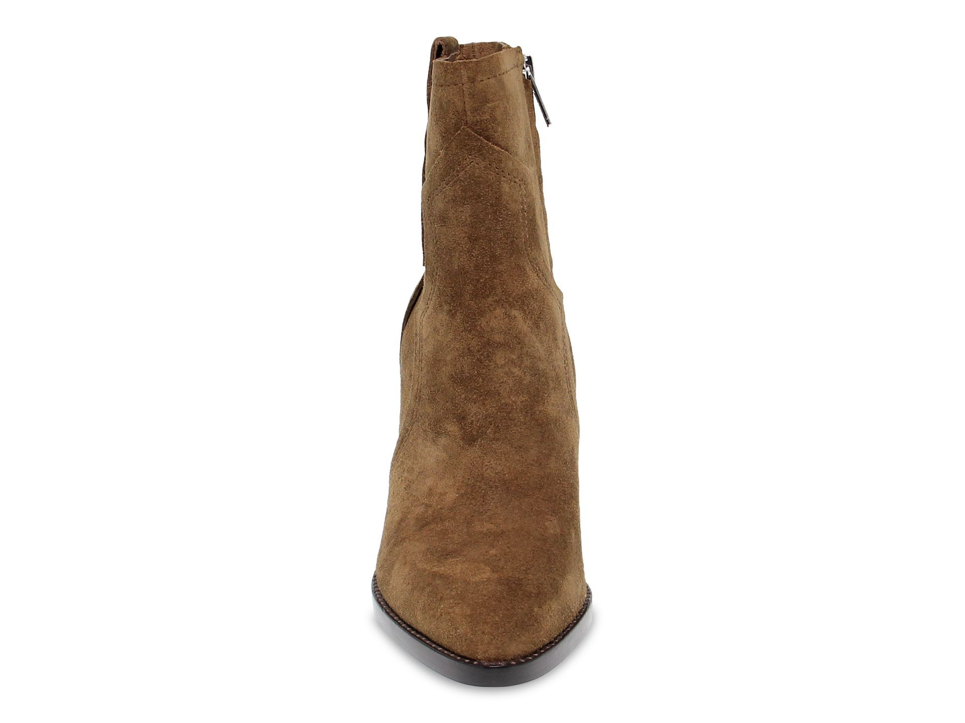ASH WOMEN'S ESQUIRE03 BROWN SUEDE ANKLE BOOTS