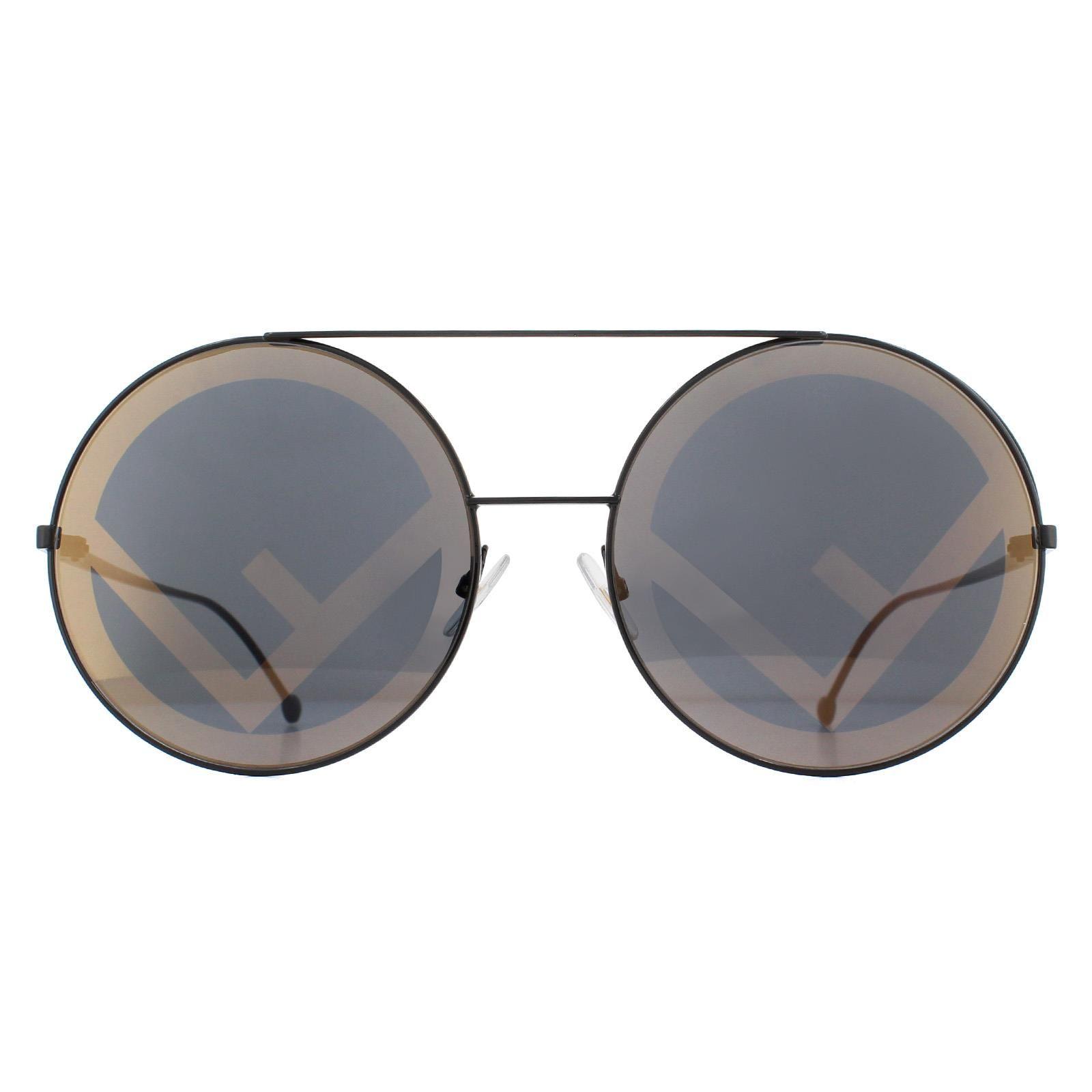 Fendi Sunglasses FF 0285/S 807/7Y Black Grey with Gold Monogram
