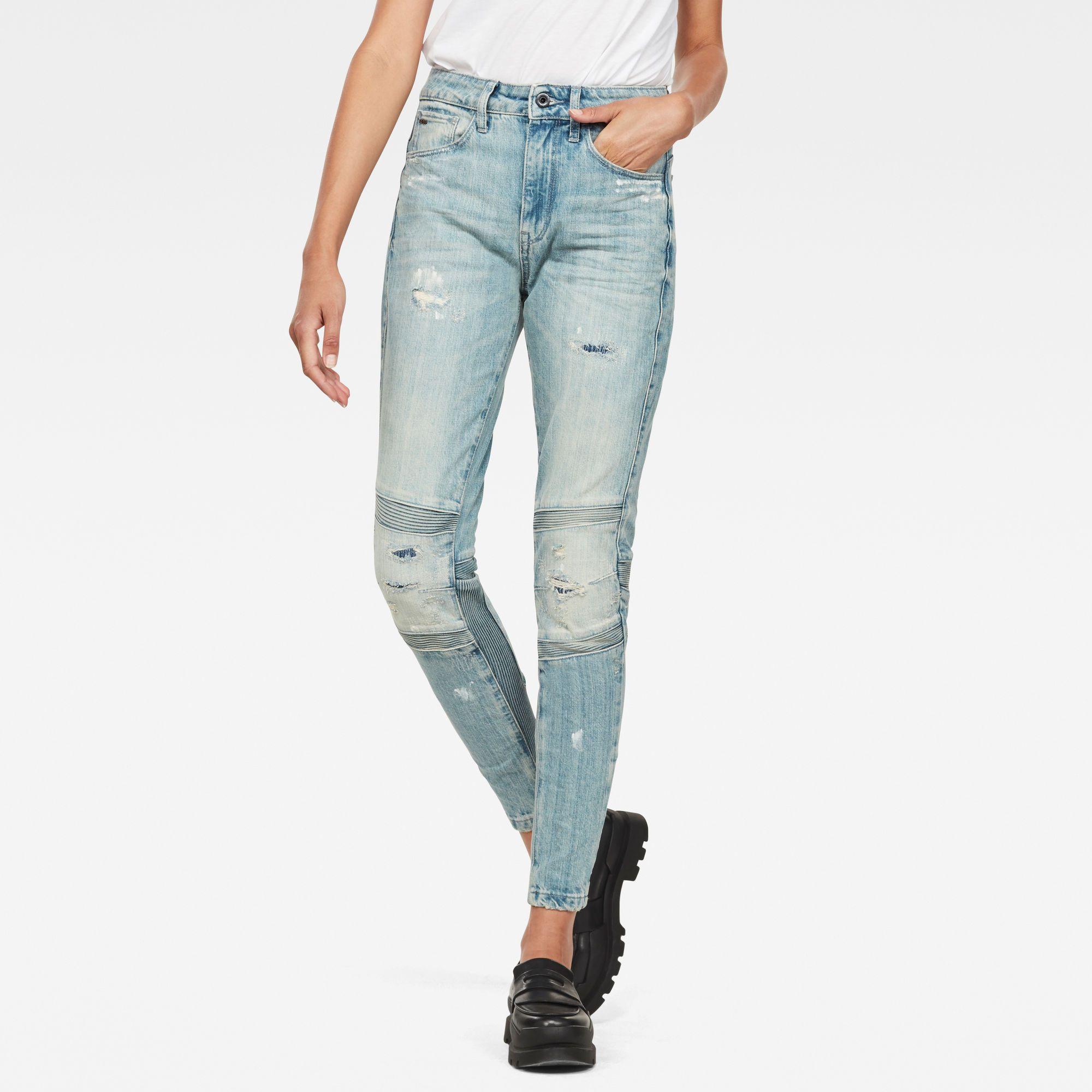 G-Star RAW Motac Deconstructed 3D High Waist Skinny Jeans