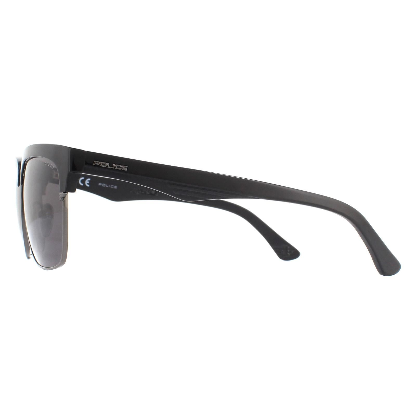 Police Sunglasses SPL354 Blackbird 1 V30P Black Grey Polarized