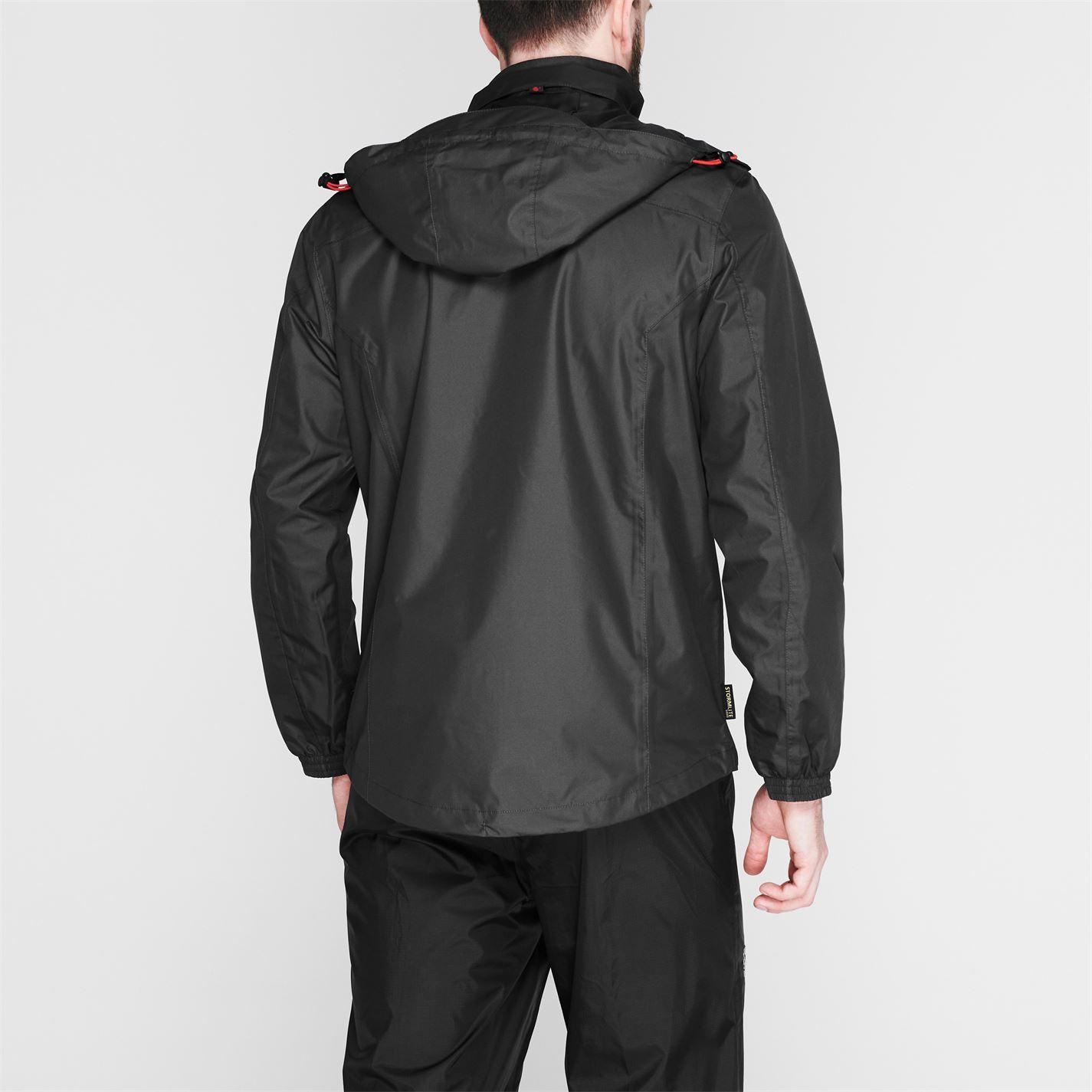 Gelert Mens Horizon Waterproof Jacket Coat Top Chin Guard Breathable Hooded Zip