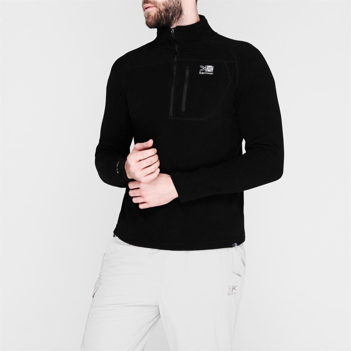 Karrimor Mens Microfleece Pullover Warm Winter Sportswear Activewear Collared