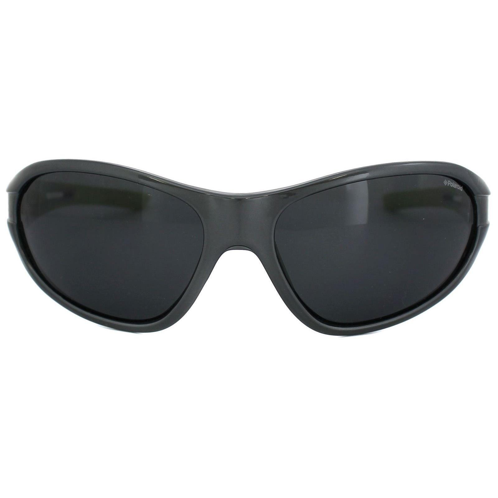 Polaroid Sport Sunglasses P7403 38G/Y2 Grey & Green Grey Polarized