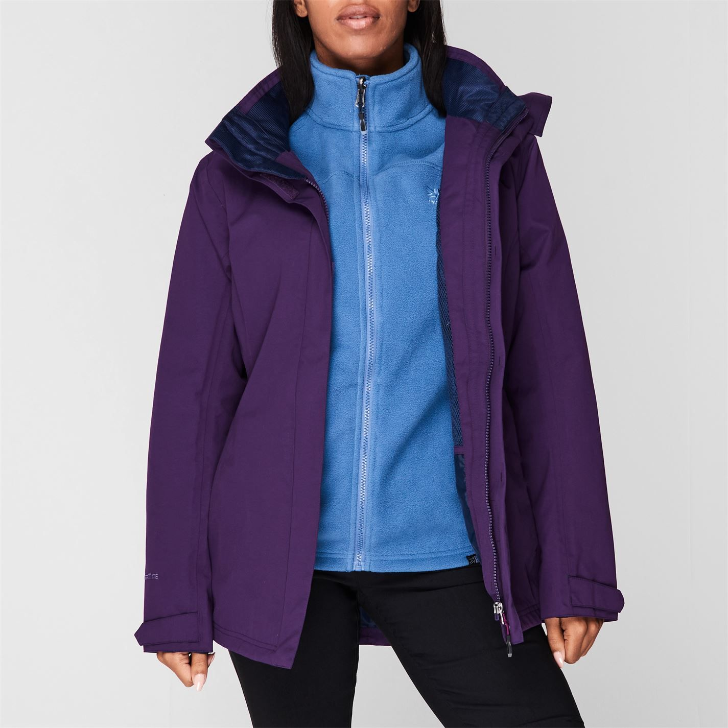 Karrimor Womens 3in1 Jacket Coat Top Ladies Hooded Fleece Mesh Lining Warm Sport