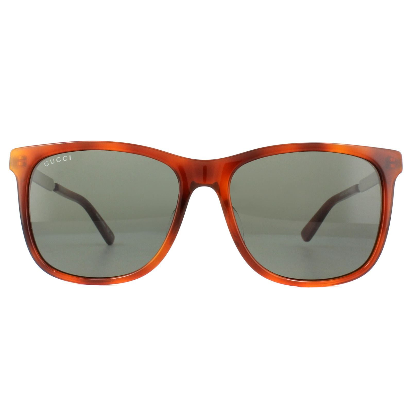Gucci Sunglasses GG0078SK 005 Tortoise Green