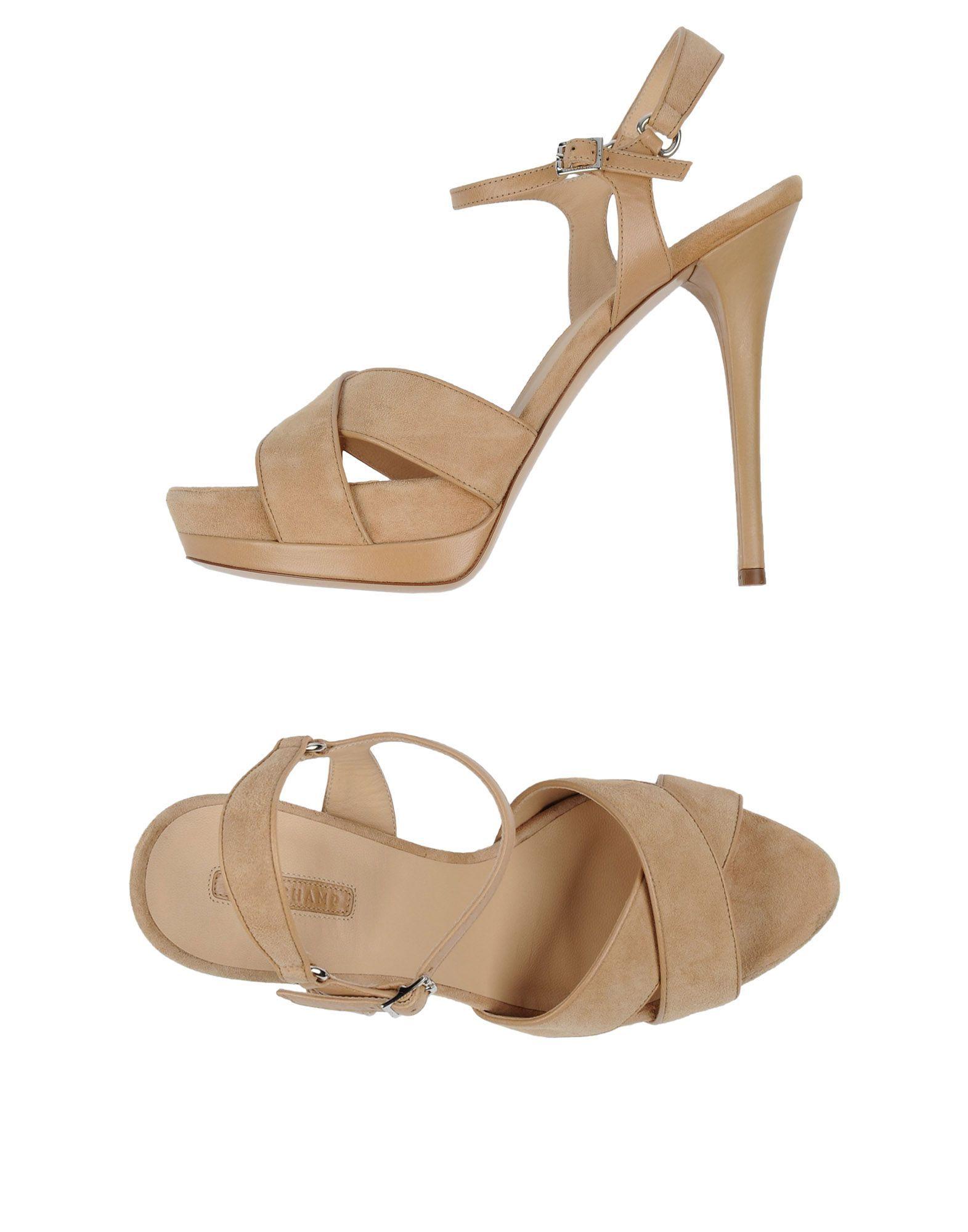Longchamp Beige Leather Heeled Sandals